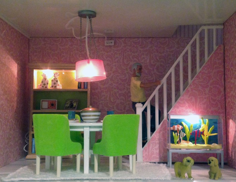 doll house man stairs
