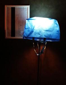 not lamp, dressed in bag