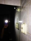 glow in the dark star on mirror crack
